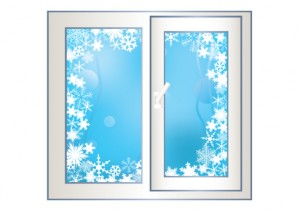 деревянных окон зимой