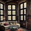 На фоне стрельчатых окон и витражей – английская гостиная снова в моде