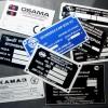 Профессиональное изготовление шильдиков и визиток